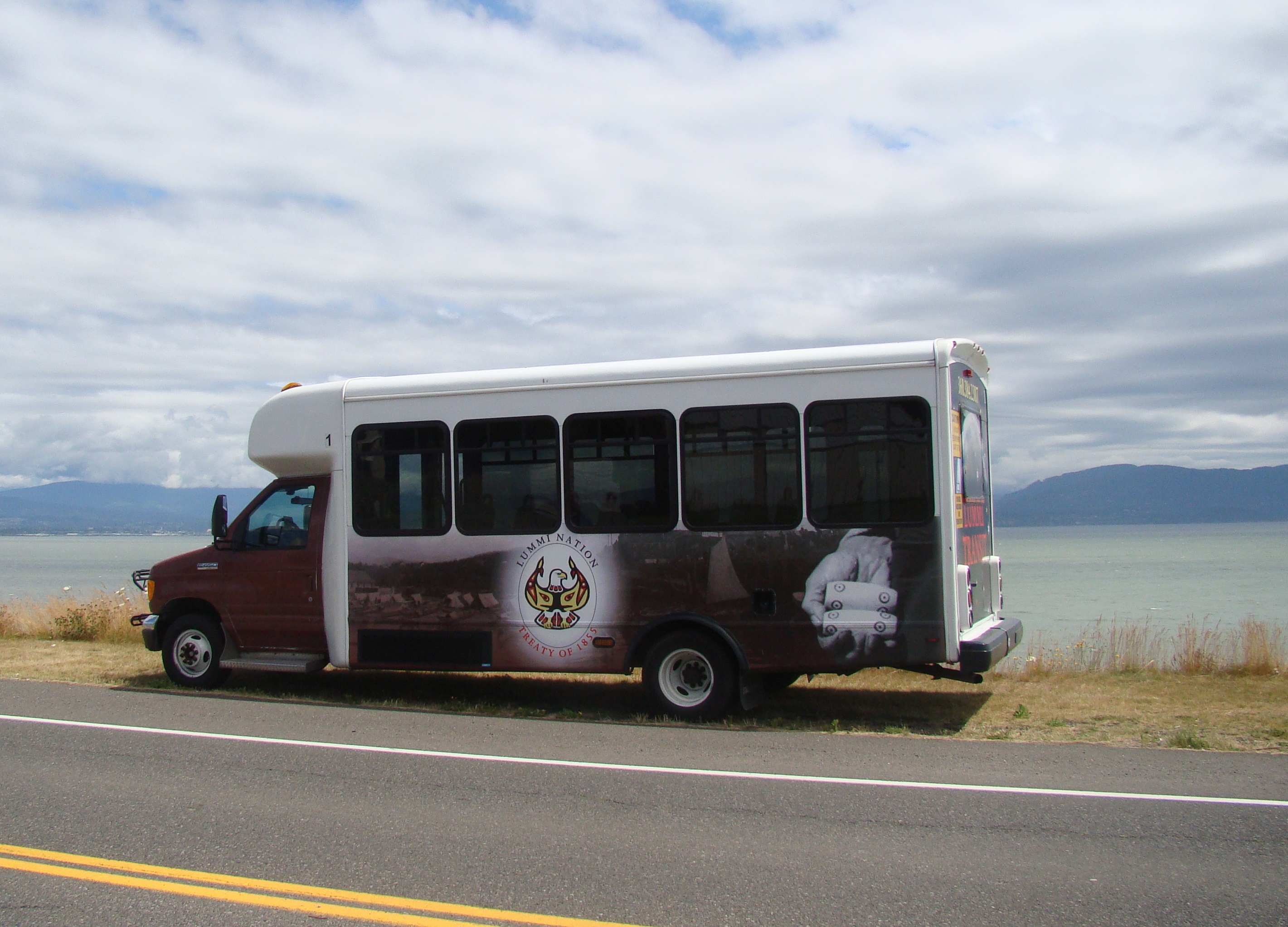Lummi Tribe Transit bus