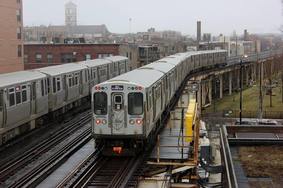 Image of Chicago Transity Authority subway trains