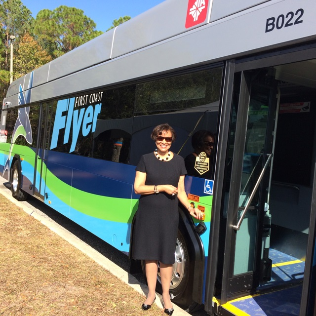 FTA Acting Administrator Carolyn Flowers at Jacksonville First Coast Flyer BRT event