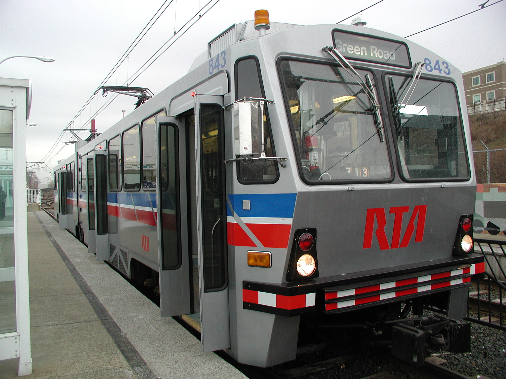 Greater Cleveland RTA train at platform