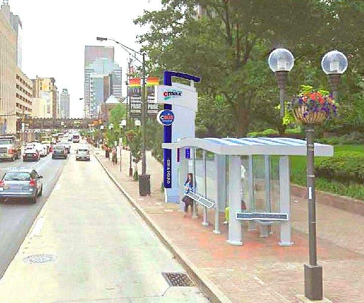 Rendering of new BRT stop
