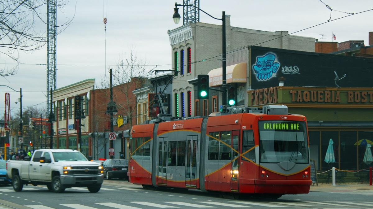 DC Streetcar in service on H Street NE