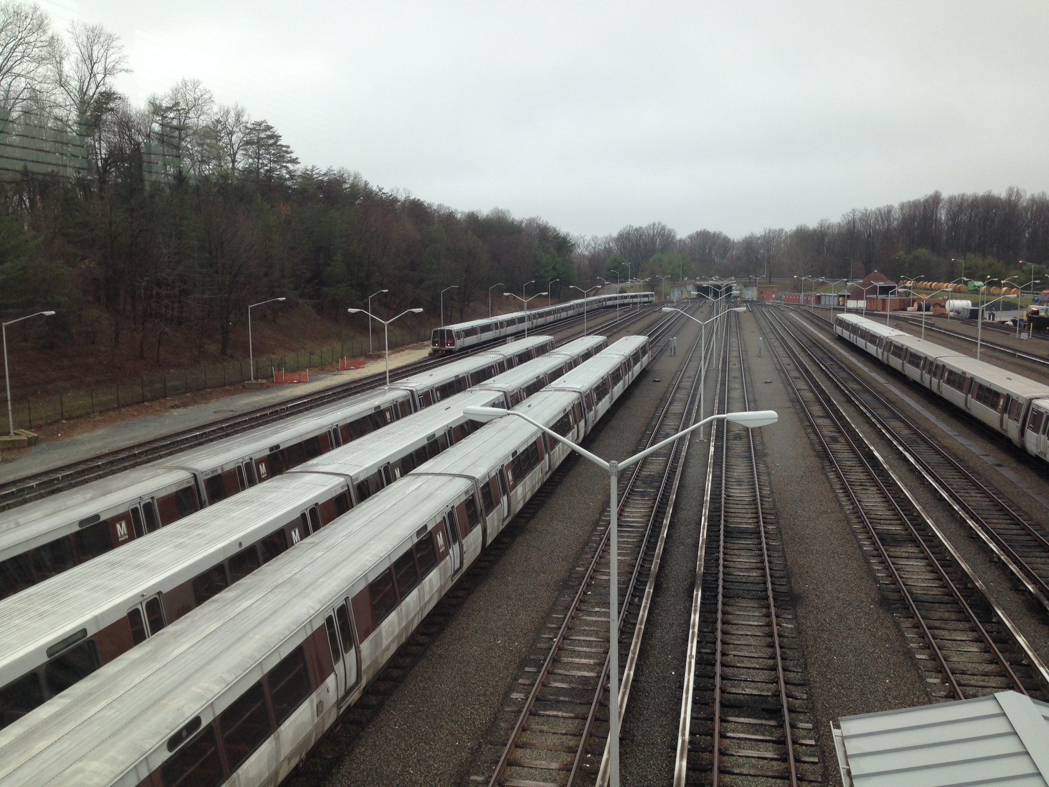Metrorail trains parked in a yard
