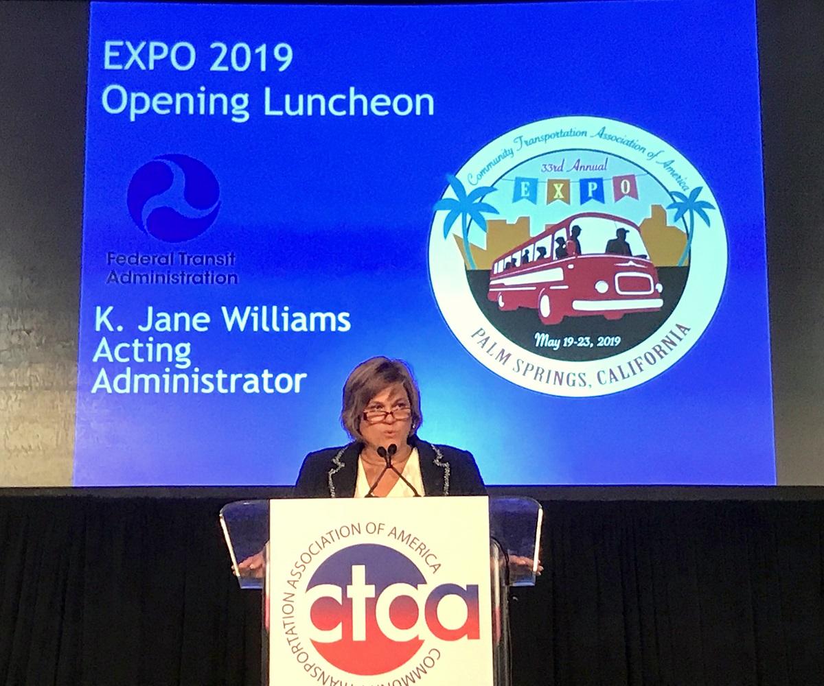 FTA Acting Administrator Williams speaks at CTAA Expo