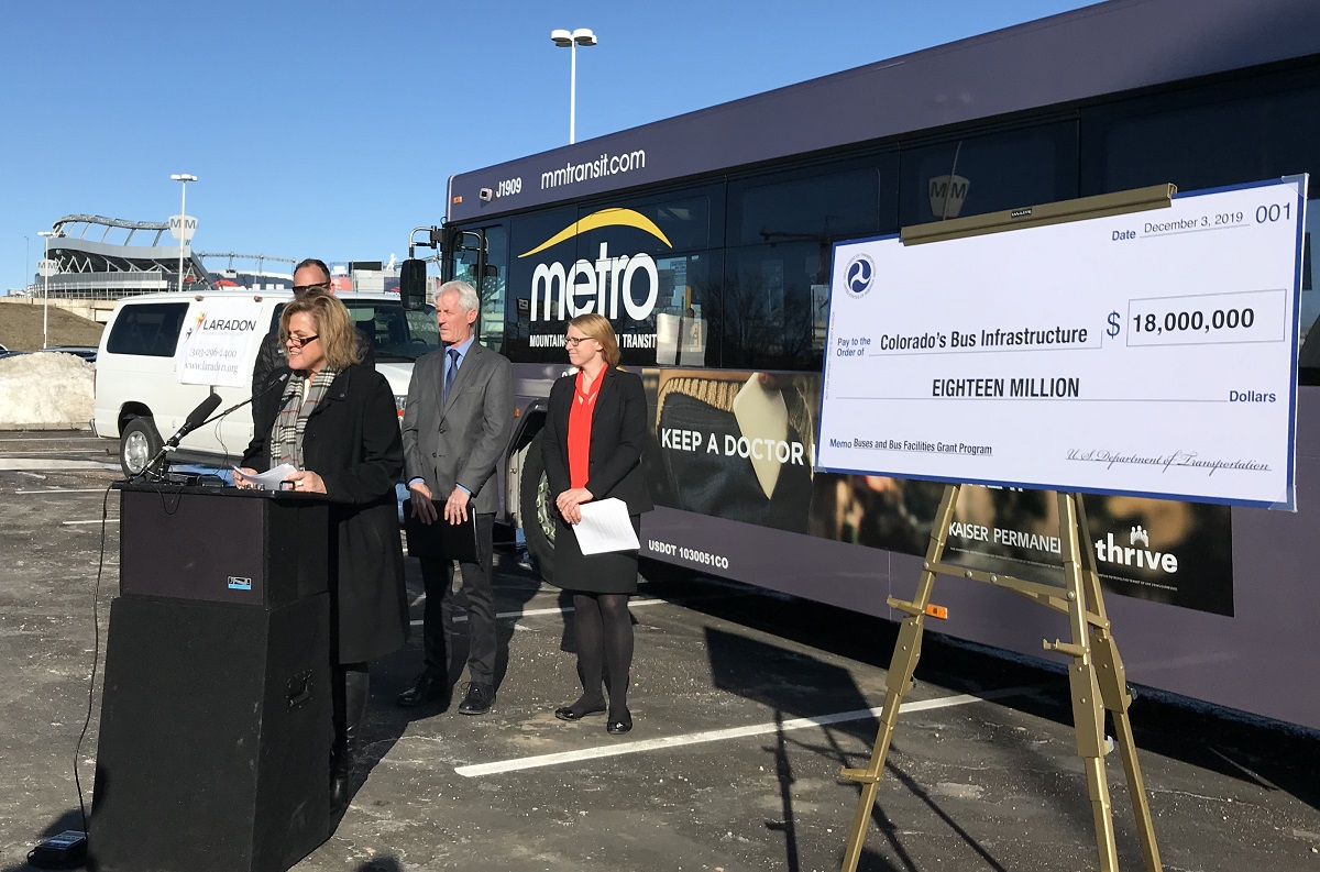 Acting Administrator Jane Williams announces FY19 bus grants at event in Denver