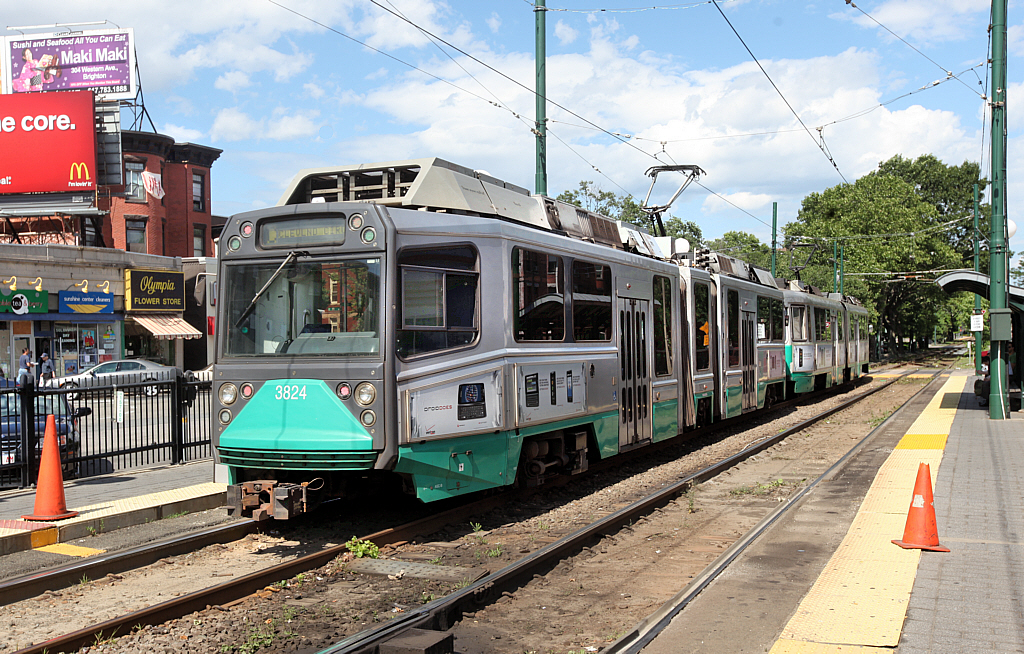 MBTA green line train