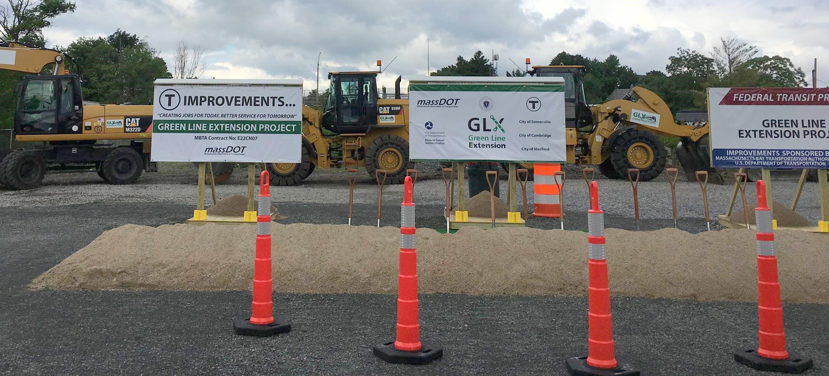 MBTA Boston Green Line Extension groundbreaking site