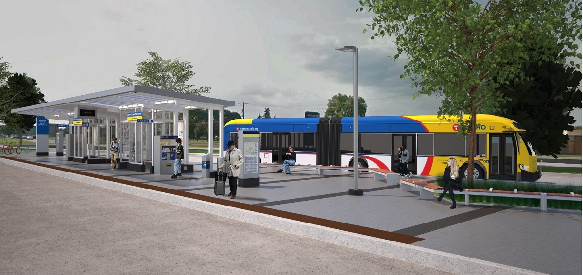 Metro Transit Orange Line BRT rendering