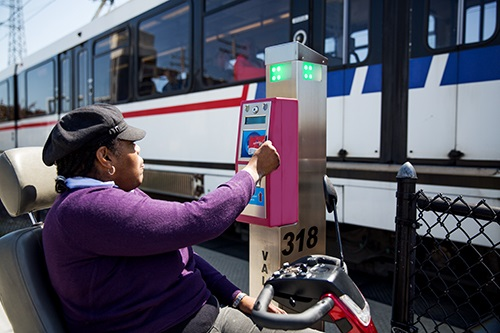 Metrolink passenger in wheelchair
