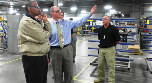 U.S. Transportation Secretary Foxx Calls for Transportation Funding During Tour of NABI Bus Manufacturing Facility