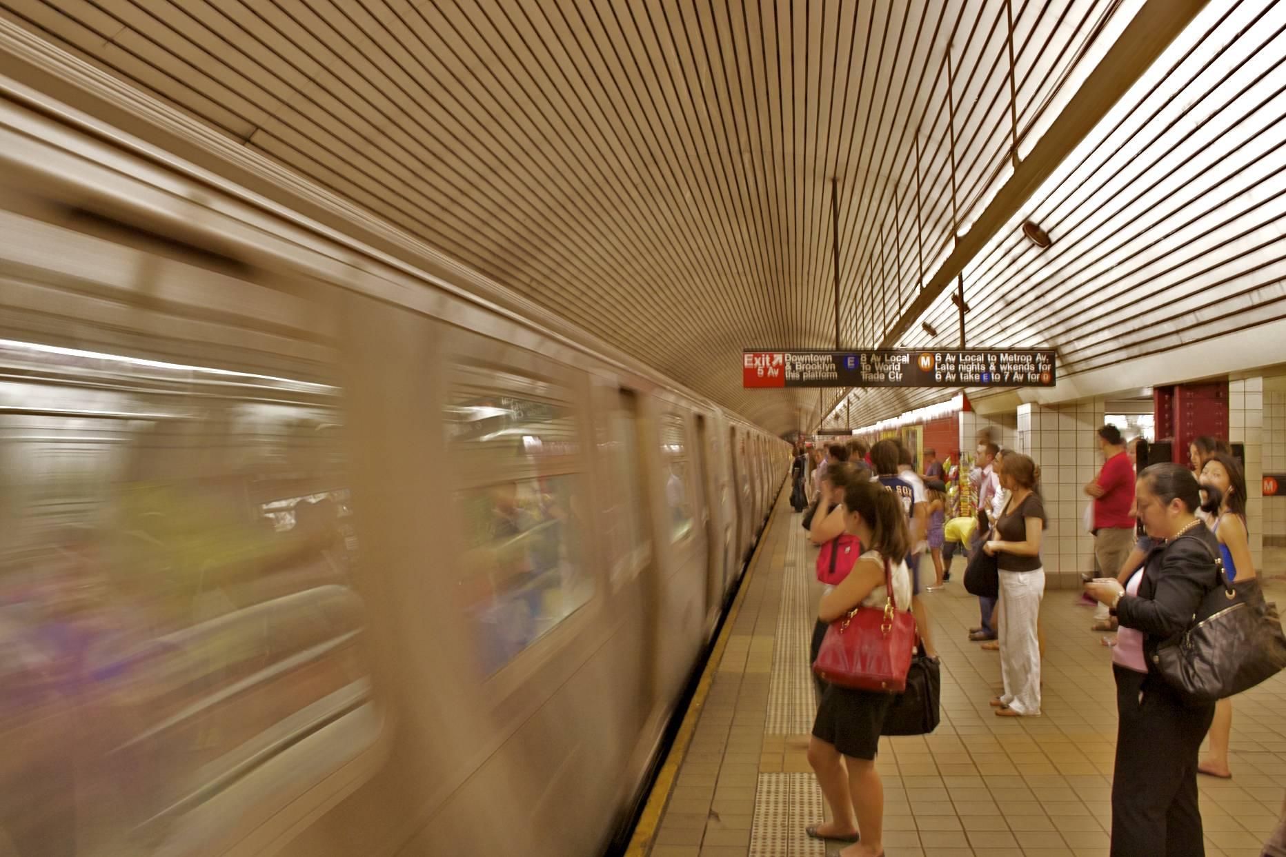 NYCT Platform and Passenger