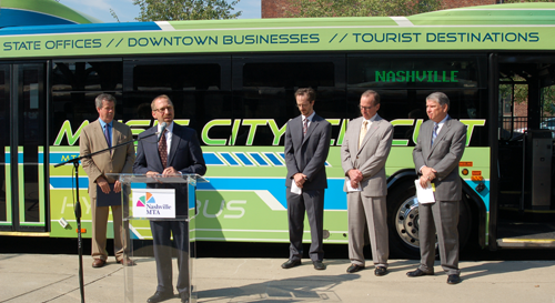 U.S. Transportation Secretary LaHood Announces $3 Million for New Zero- Emission Electric Buses, Charging Station in Nashville