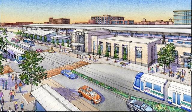 Rendering of Oklahoma City transit hub