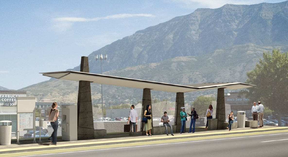 Rendering of BRT station