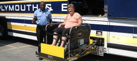 Wheelchair lift for bus