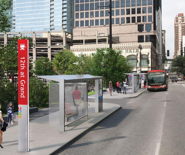 Prospect MAX bus rapid transit rendering