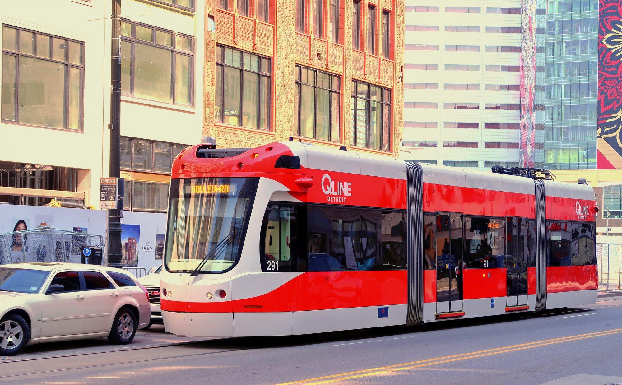 Detroit Q Line streetcar