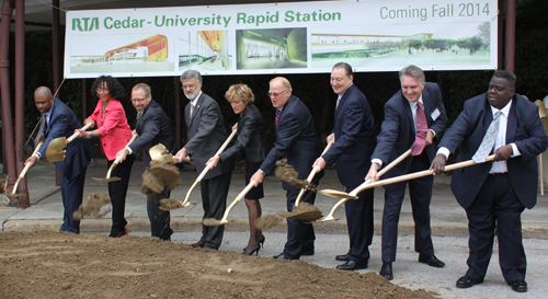 Federal Transit Administrator Rogoff Joins Cleveland Officials for New Transit Station Groundbreaking