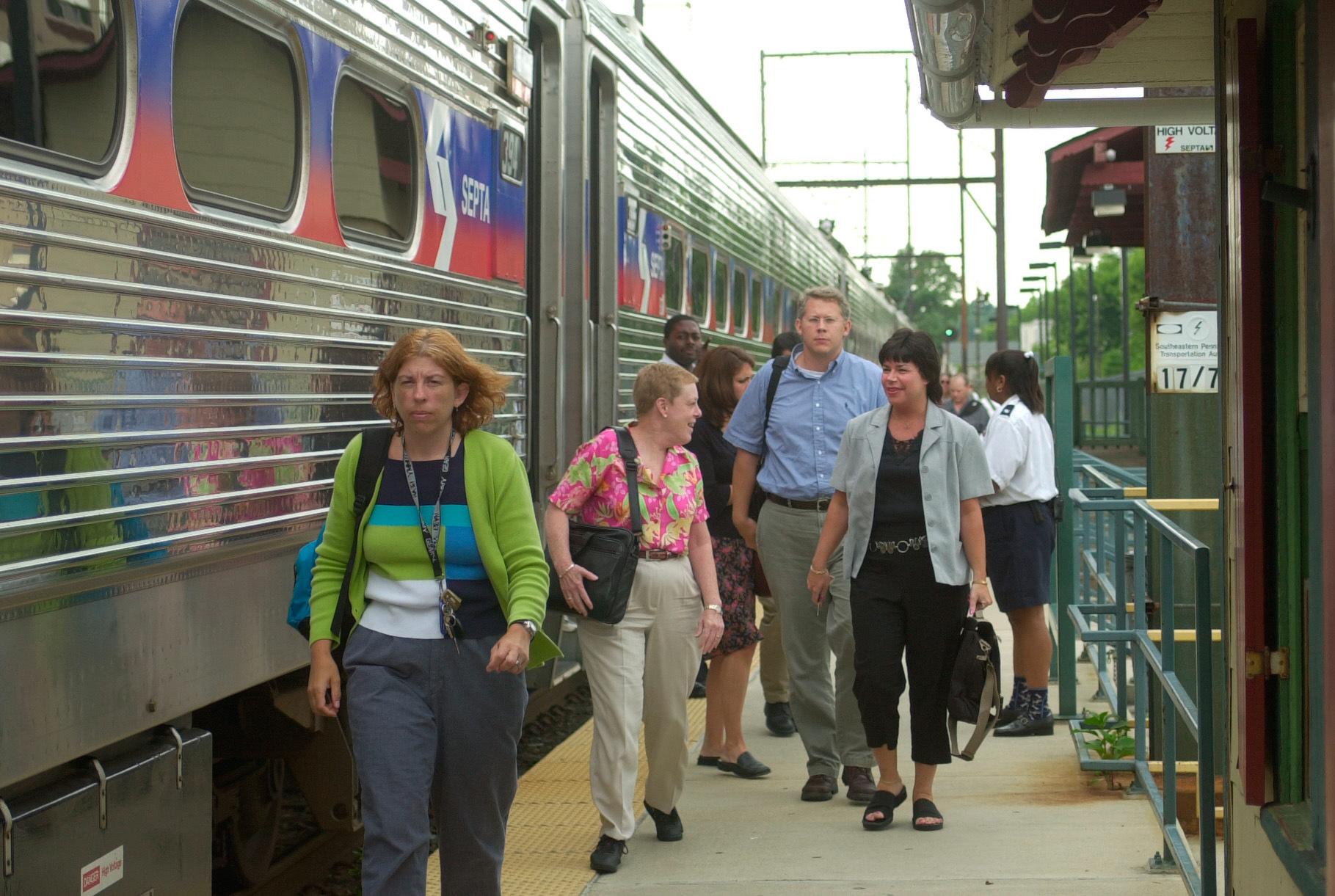 SEPTA train passengers