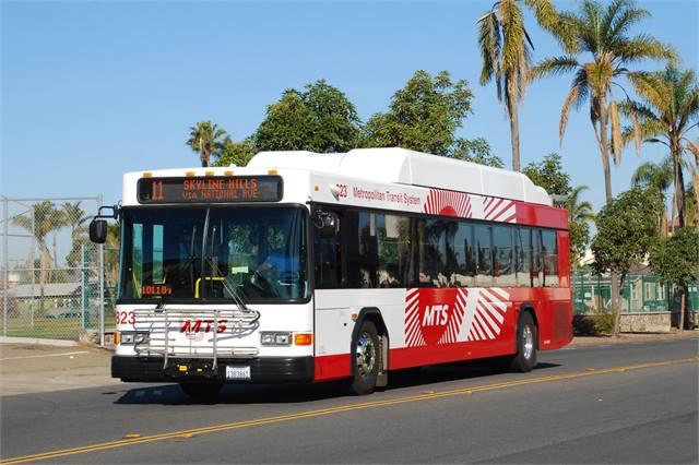 San Diego Gillig bus