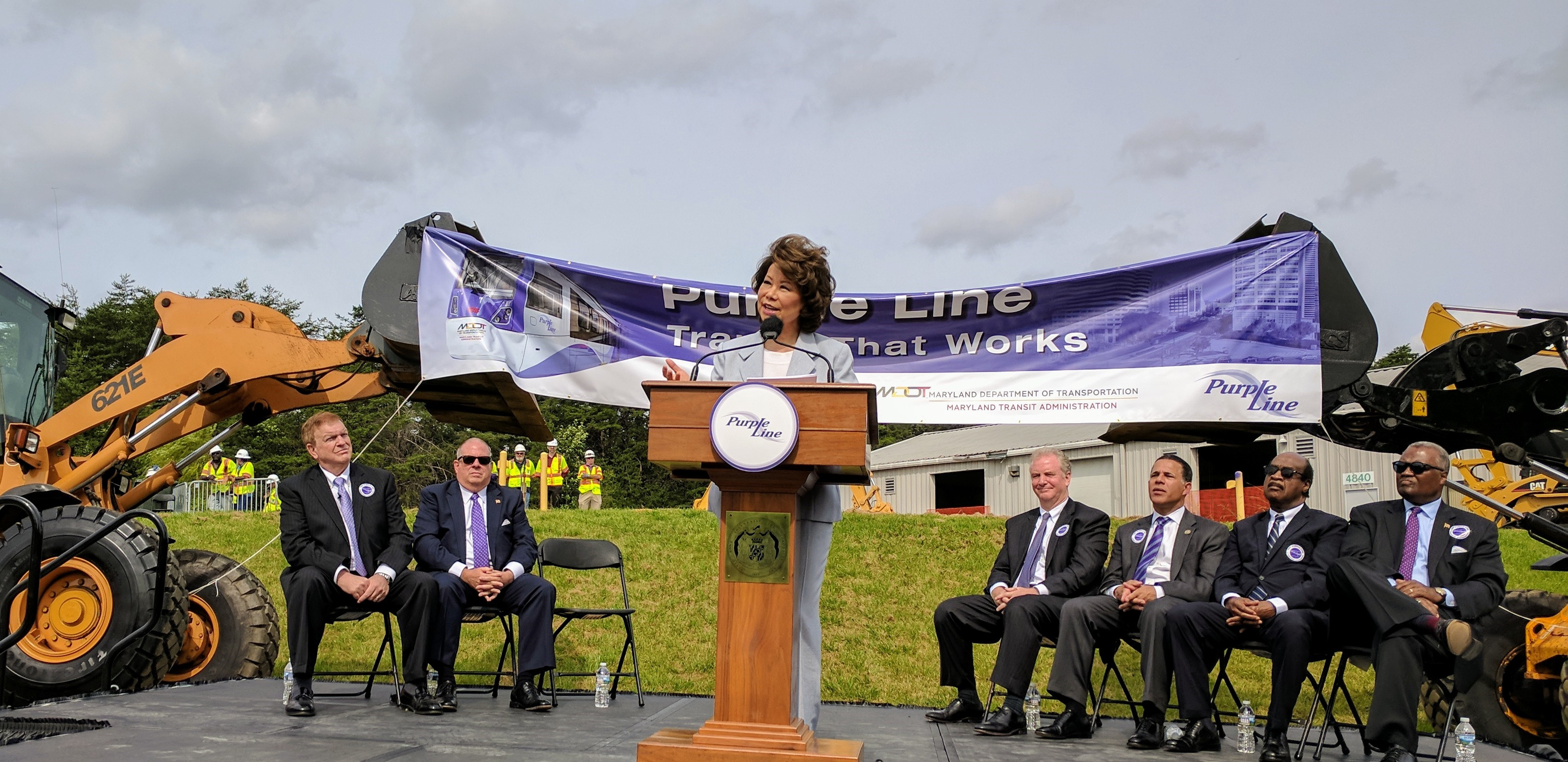 Secretary Chao signs the Purple Line Federal Funding Grant Agreement