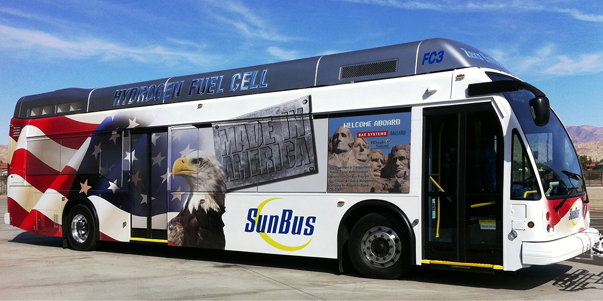 Sun Line hydrogen fuel cell bus