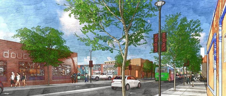 Rendering of Virginia Street BRT