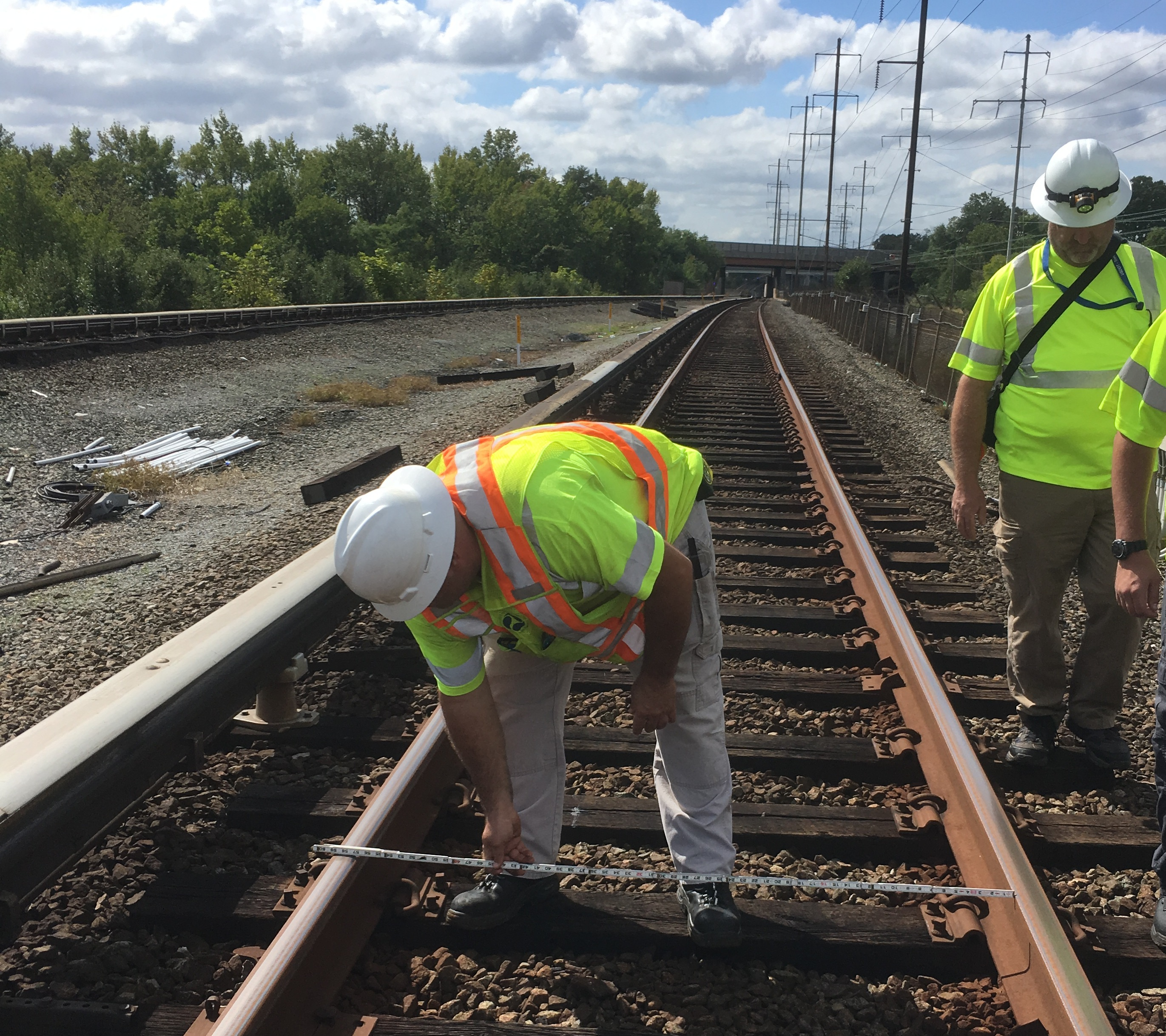Safety staff inspect WMATA track