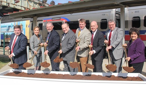 Pennsylvania transit officials celebrate groundbreaking for Paoli Station