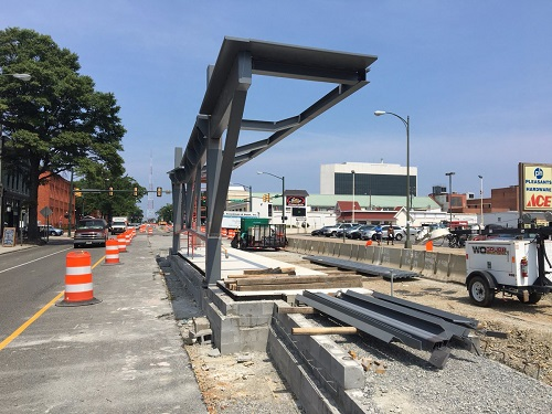Pulse BRT under construction, Richmond, VA