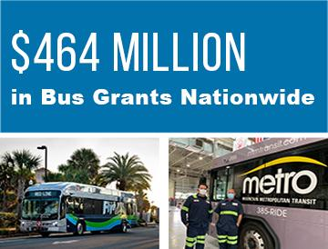 $464 million in bus grants nationwide
