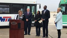 Acting Administrator Jane Williams announces FY19 bus grants at event in Detroit