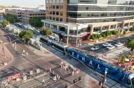 Tempe Streetcar under construction