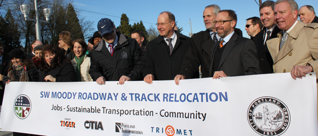 The Federal Transit Administration Showcases Economic Development at the Site of the SW Moody Avenue Streetcar Project